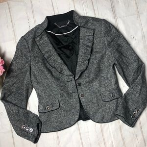 White House Black Market grey blazer